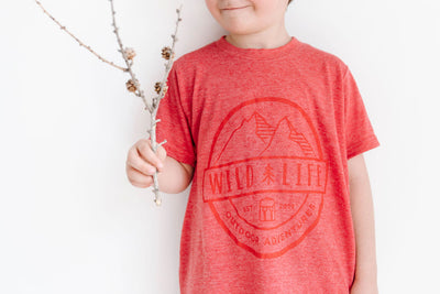 "Kids Wild | Life ""Wild Warden"" T-Shirt Blended Heather Red"