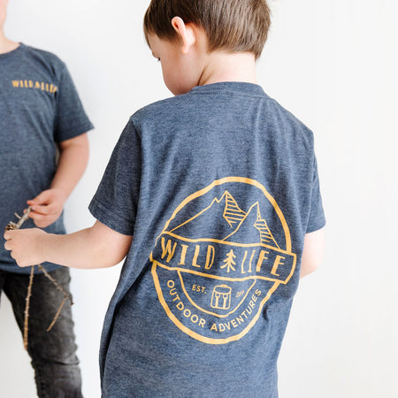 "Kids Wild | Life ""Summer Camp"" T-Shirt Blended Blue/Grey"