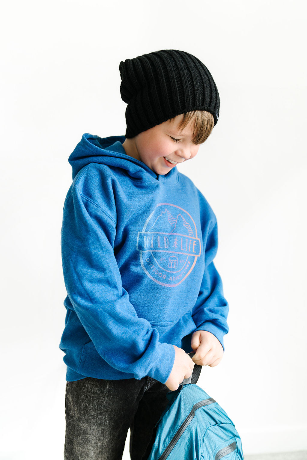 "Kids Wild | Life ""All Season"" Tri-Colour Crest Logo Hoodie"