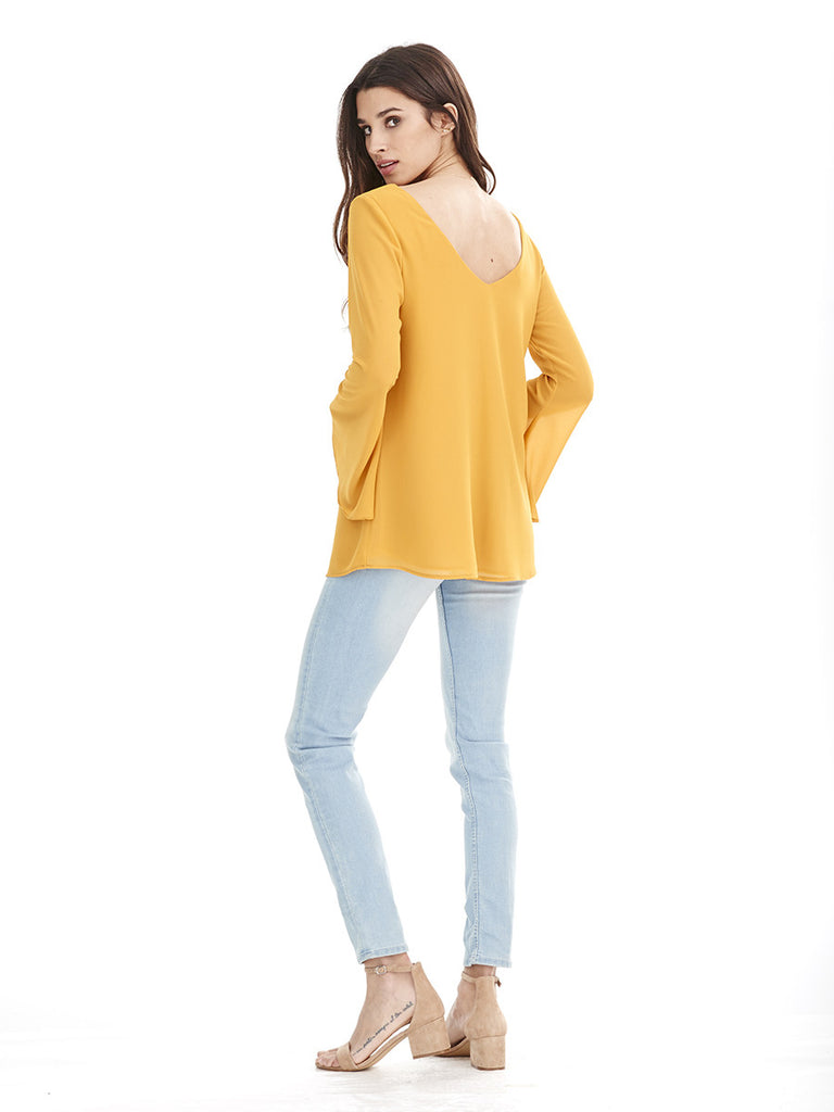 Blusa TORMENTA - Amarillo Curry