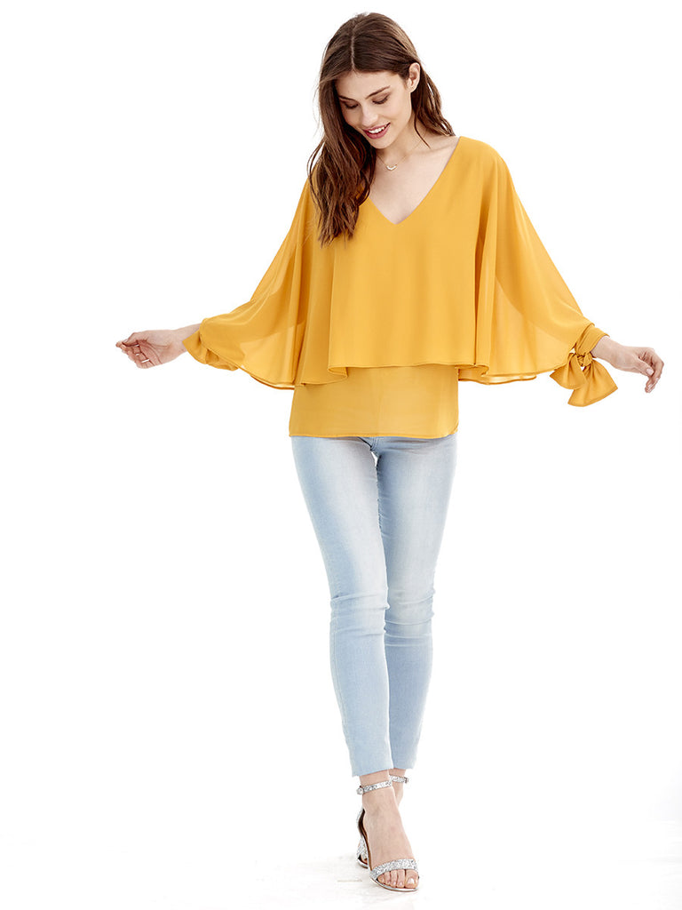 Blusa NUDO - Amarillo Curry