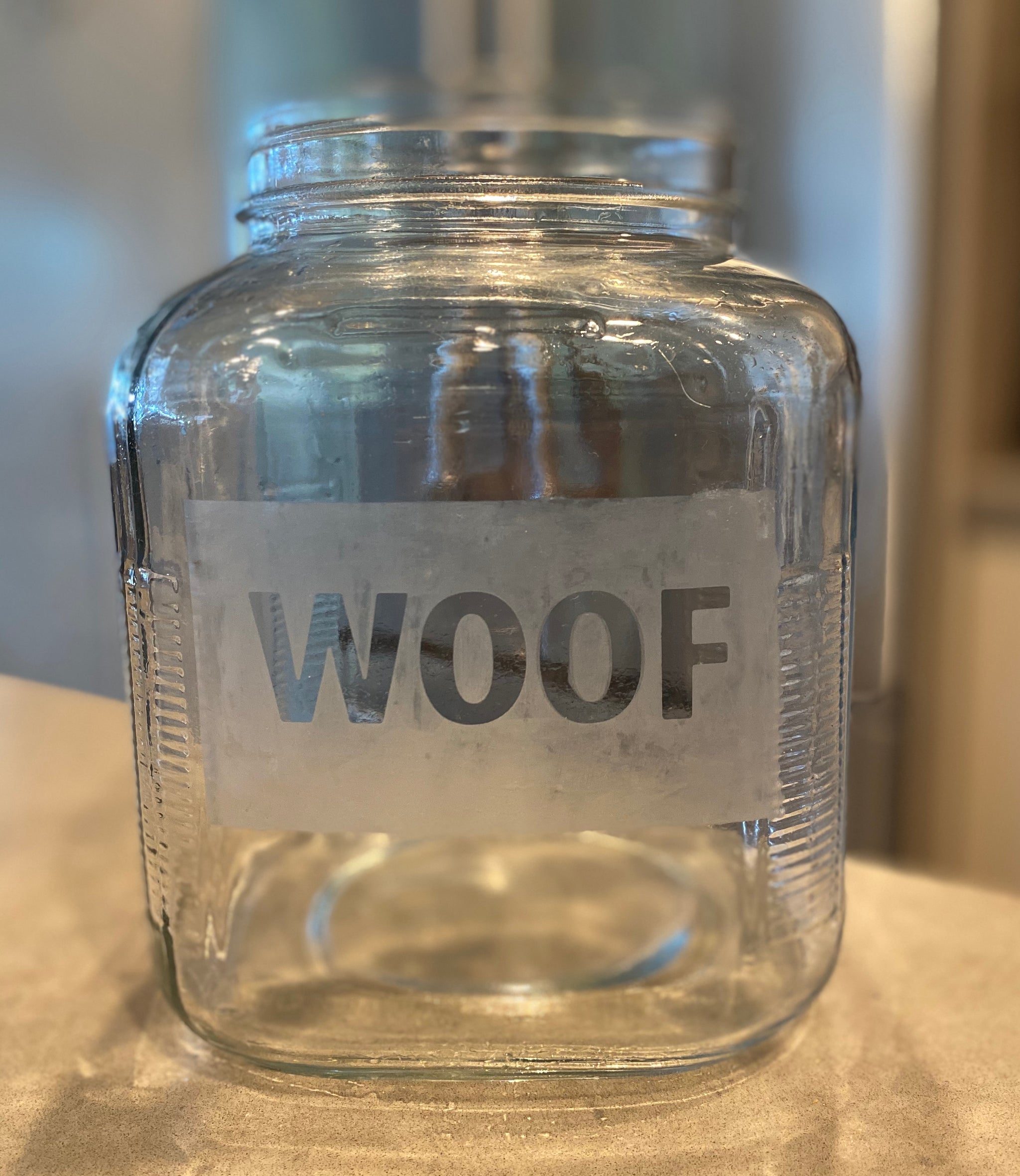 DIY Etched Dog Treat Jar
