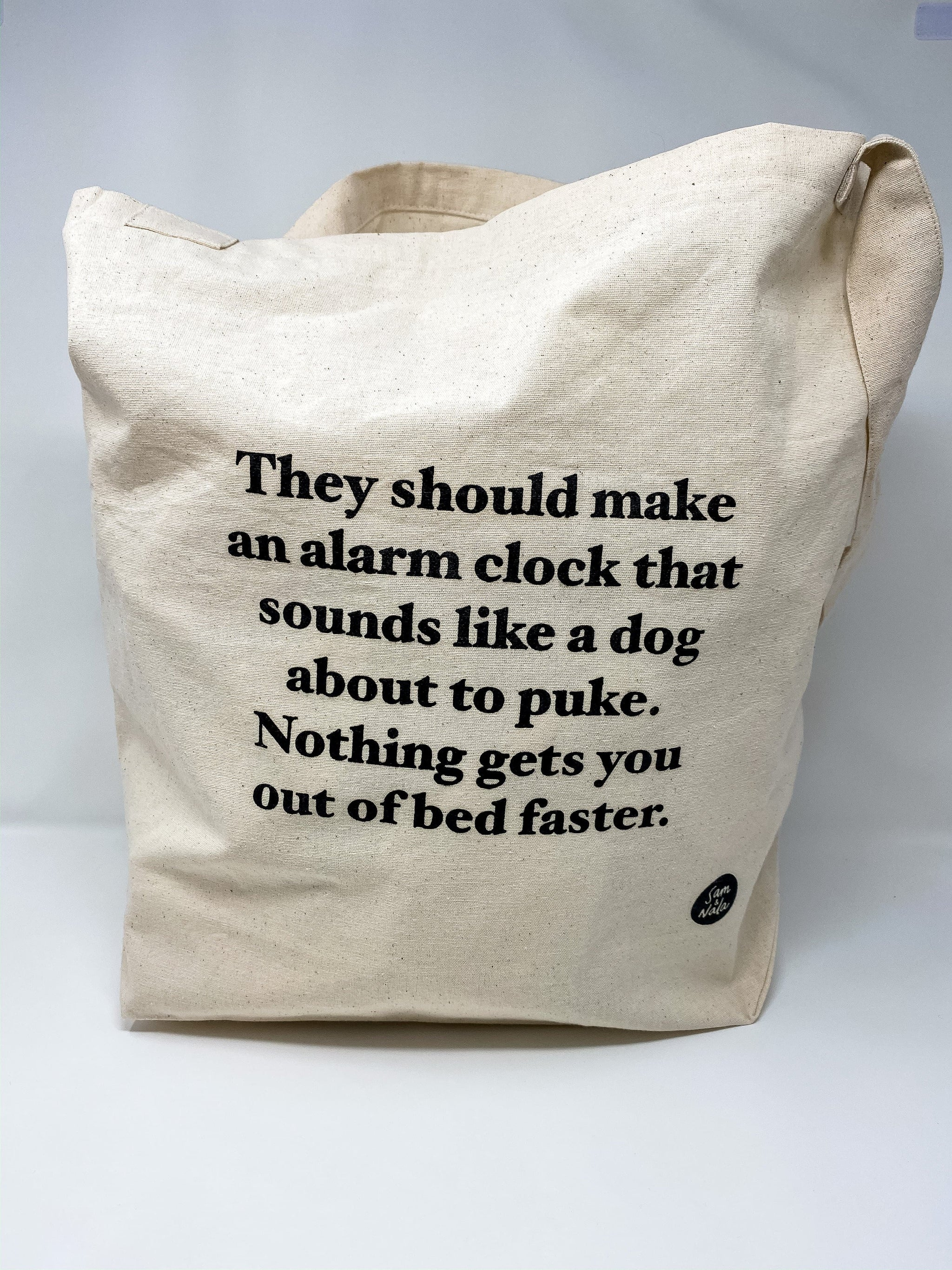 Canvas Bag- Alarm Clock Dog