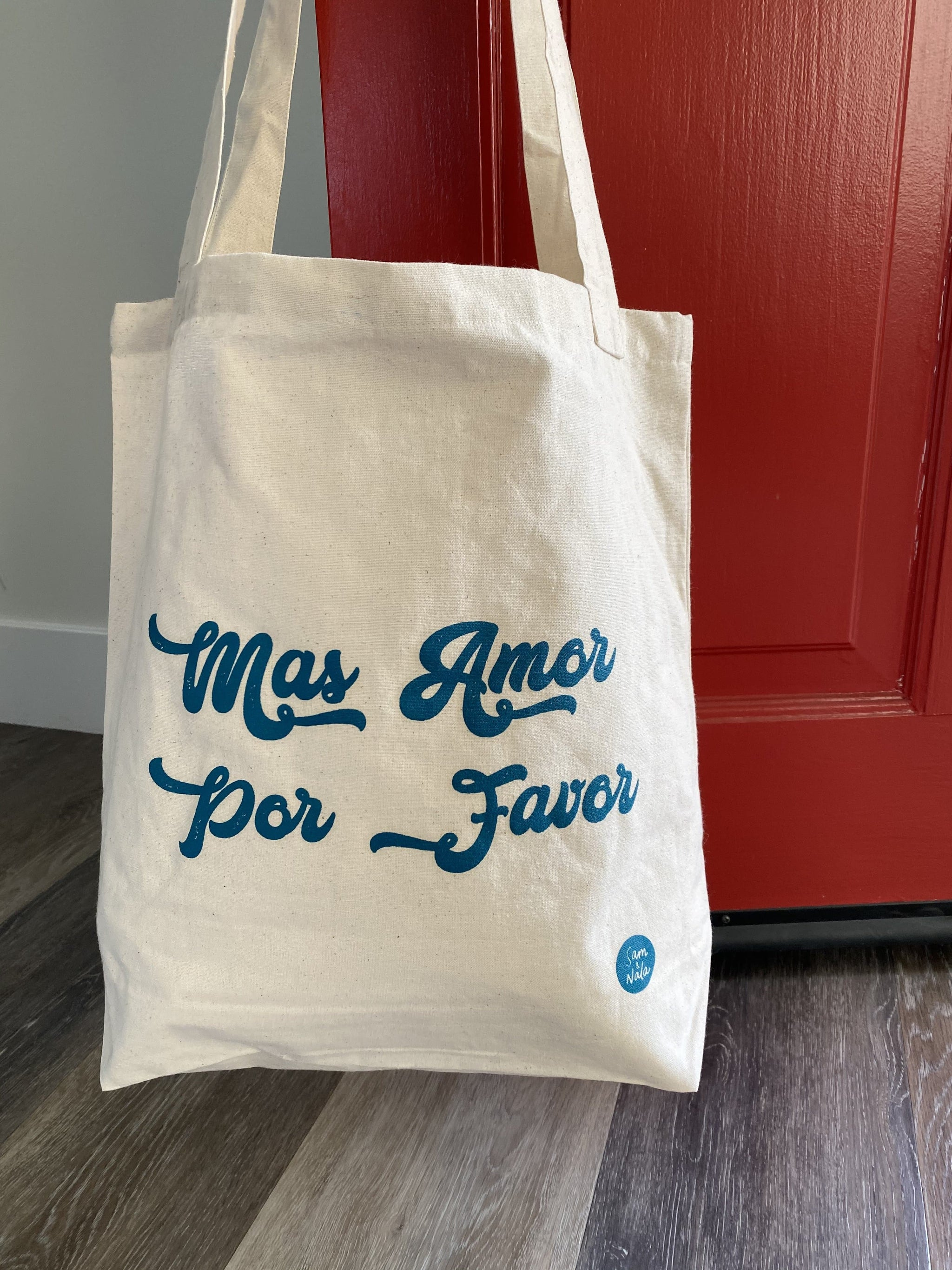 Recycled Canvas Bags - Mas Amor Por Favor