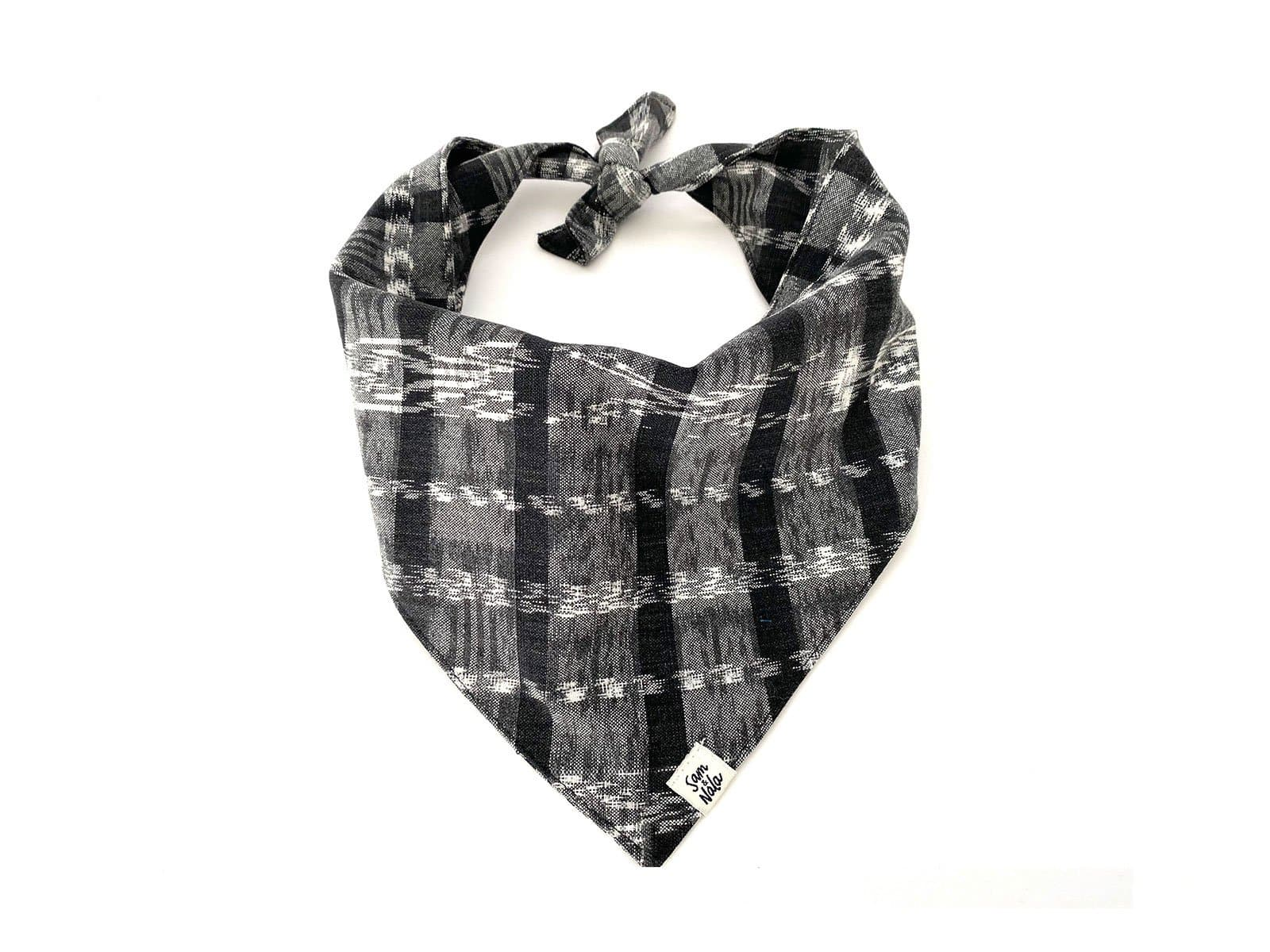 Heirloom Black Plaid Dog Bandana