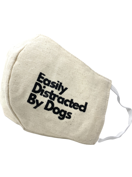 """Easily Distracted"" Cotton Face Mask"