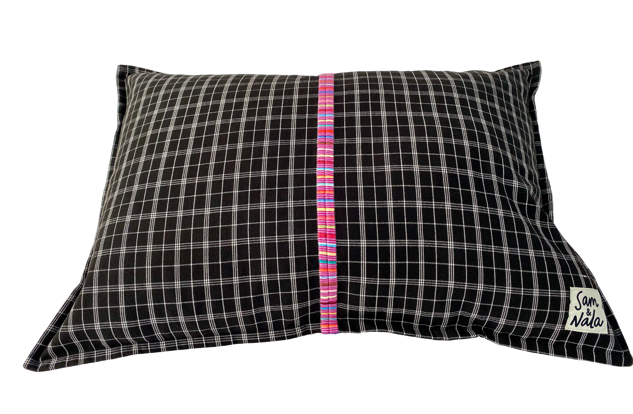 Small Dog Bed-Black Checked- One of a Kind (#106)