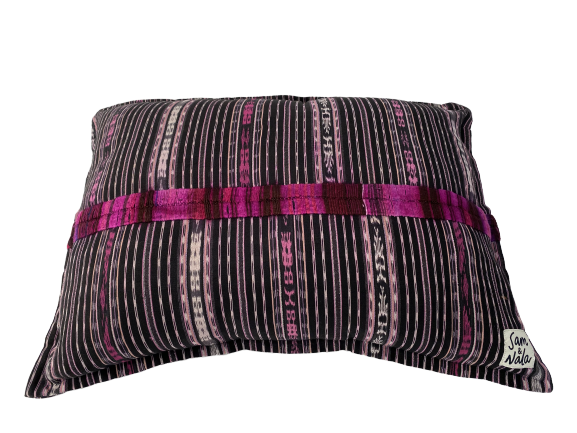 Small Dog Bed-Pink and Black- One of a Kind (#103)