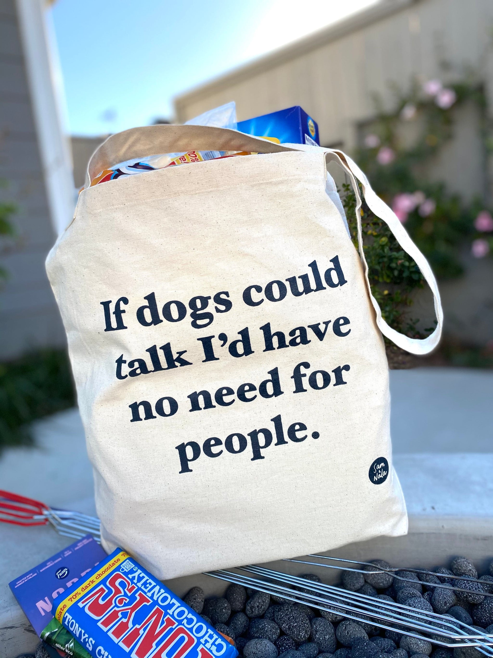 Recycled Canvas Bags - If Dogs Could Talk