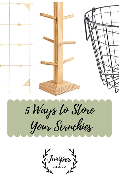 5 Ways to Store Scrunchies