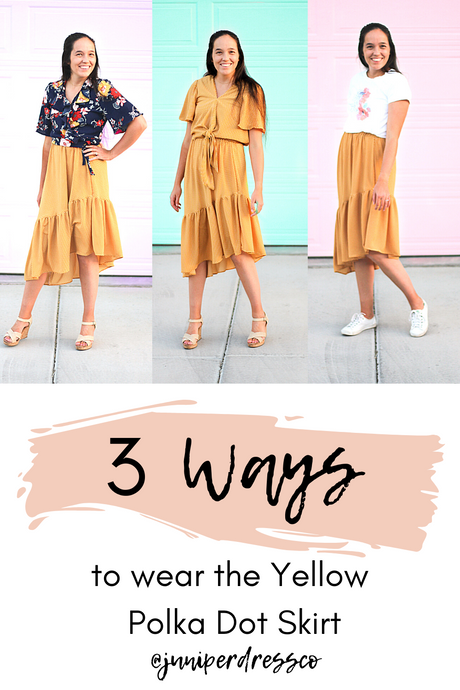 Yellow Polka Dot Skirt - Three Ways