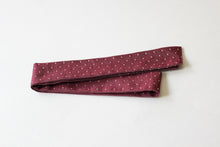 Load image into Gallery viewer, Maroon Dot Hair Scarf