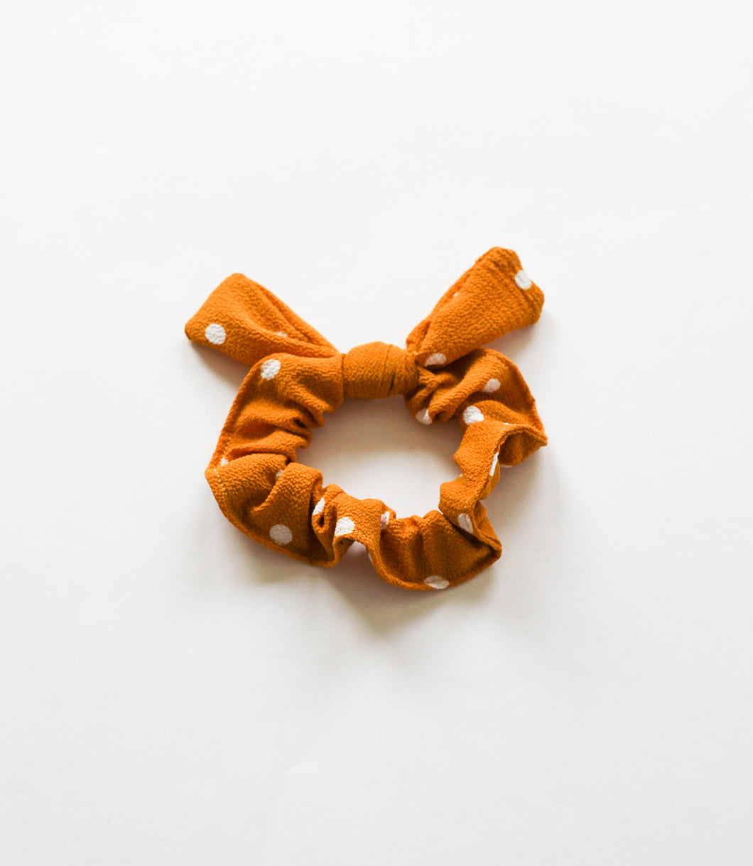 Mustard Large Dot Hair Scrunchie