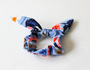 Blue Floral Rifle Paper Co. Scrunchie
