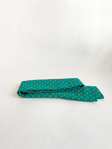 Teal Blue Embroidered Plus Sign Hair Scarf