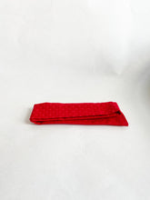 Load image into Gallery viewer, Red Embroidered Plus Sign Hair Scarf