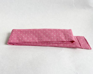 Pink Embroidered Plus Sign Hair Scarf