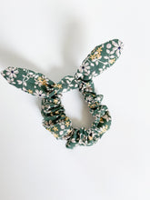 Load image into Gallery viewer, Green Floral Scrunchie