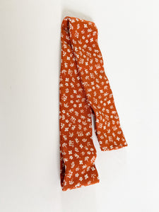 Rust Floral Hair Scarf
