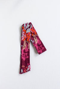 Hot Pink Floral Hair Scarf
