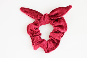 Red Velvet Bow Scrunchie