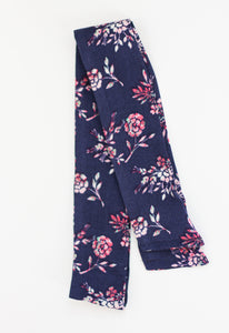 Navy and Pink Floral Hair Scarf