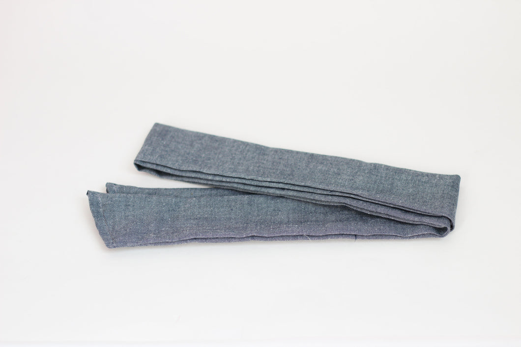Blue Denim Hair Scarf