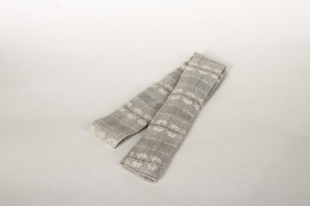 Gray Embroidered Hair Scarf