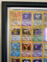 Load image into Gallery viewer, Pokemon Fossil Holo Rare Uncut Sheet 1 of 99 (110 Cards) Wizards of the Coast Kay Bee Toys FRAMED