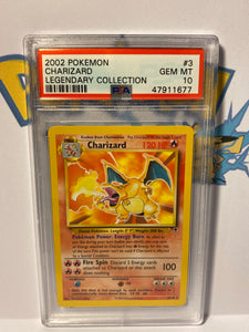 PSA 10 GEM MINT Charizard - Legendary Collection - Non Holo 3/110 - 2002 WOTC