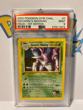 Load image into Gallery viewer, PSA 9 MINT First Edition Giovanni's Nidoking - Gym Challenge 2001 WOTC