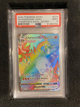 Load image into Gallery viewer, PSA 9 MINT - Rainbow Rare Charizard VMAX 074/073 - Secret Rare Full Art - Champion's Path
