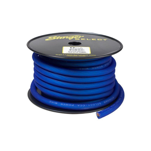 1/0GA MATTE BLUE POWER WIRE