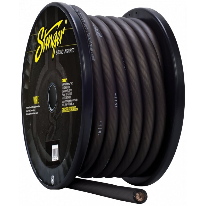 1/0GA PRO POWER WIRE GRAY 50' Roll