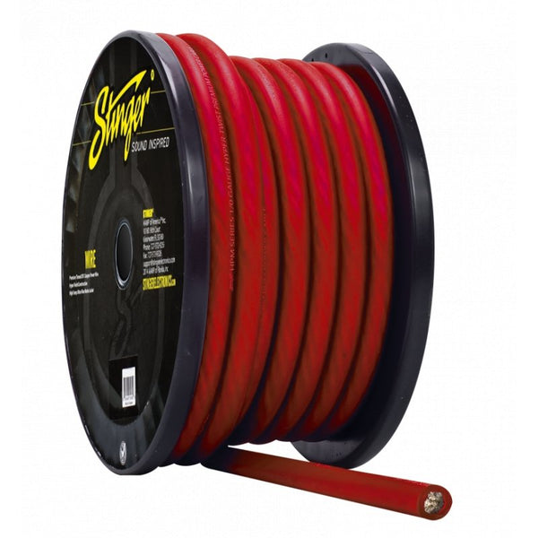 1/0GA PRO POWER WIRE: MATTE RED 50' Roll