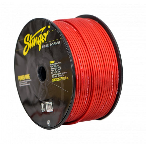 10GA PRO POWER WIRE: MATTE RED 500' Roll