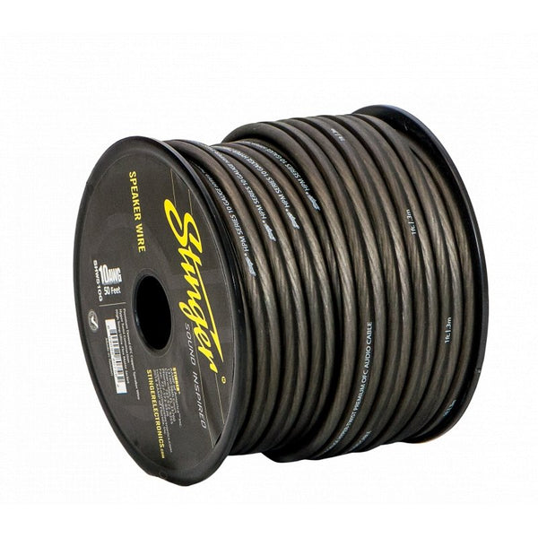 10GA SPEAKER WIRE: GRAY 50' ROLL