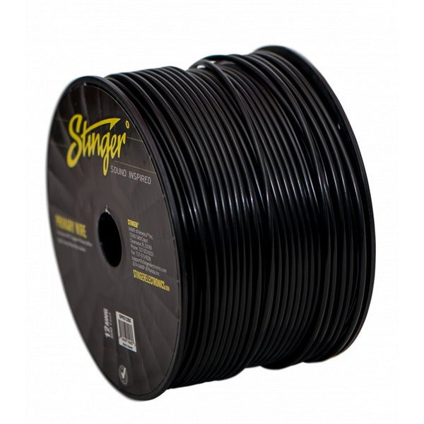12GA PRO PRIMARY WIRE: BLACK 500' ROLL