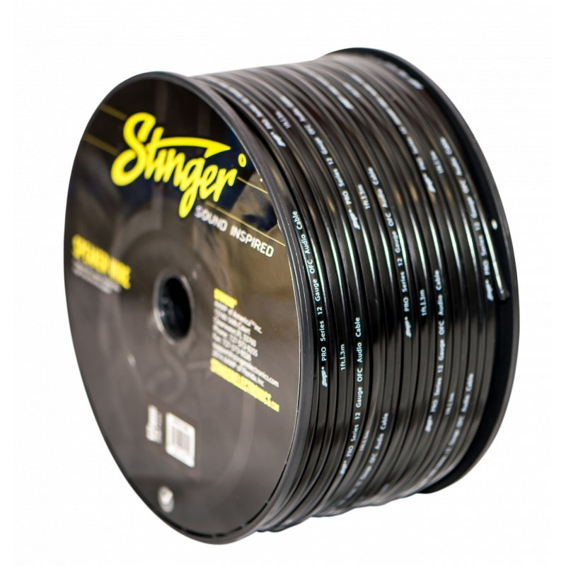 12GA SPEAKER WIRE: BLACK 250' ROLL
