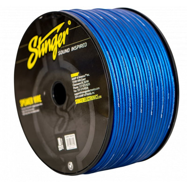 12GA SPEAKER WIRE: BLUE 250' ROLL