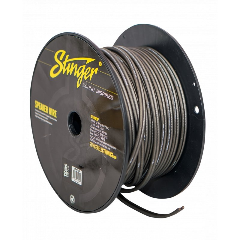 12GA SPEAKER WIRE: GRAY 100' ROLL