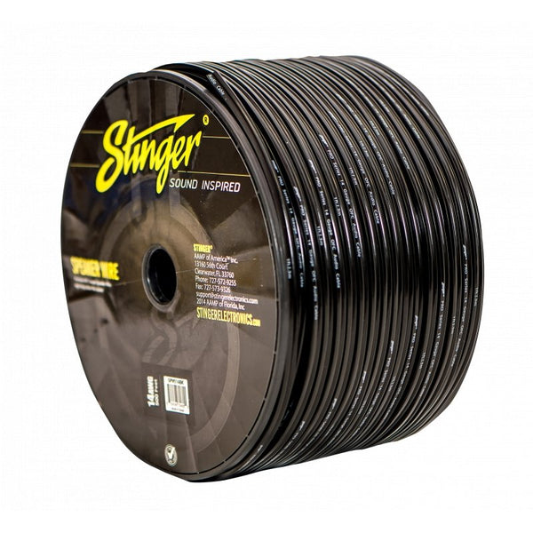 14GA SPEAKER WIRE: BLACK 500' ROLL