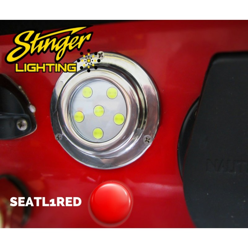 "3.5"" RED MARINE UNDERWATER TRANSOM LED"