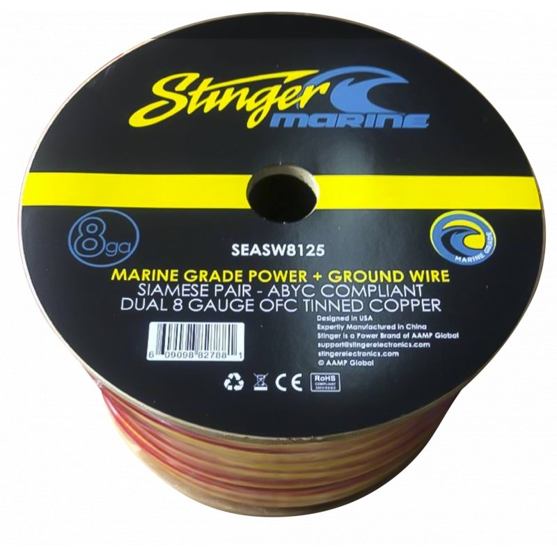 4GA MARINE GRADE AMPLIFIER WIRE SPOOLS 125FT