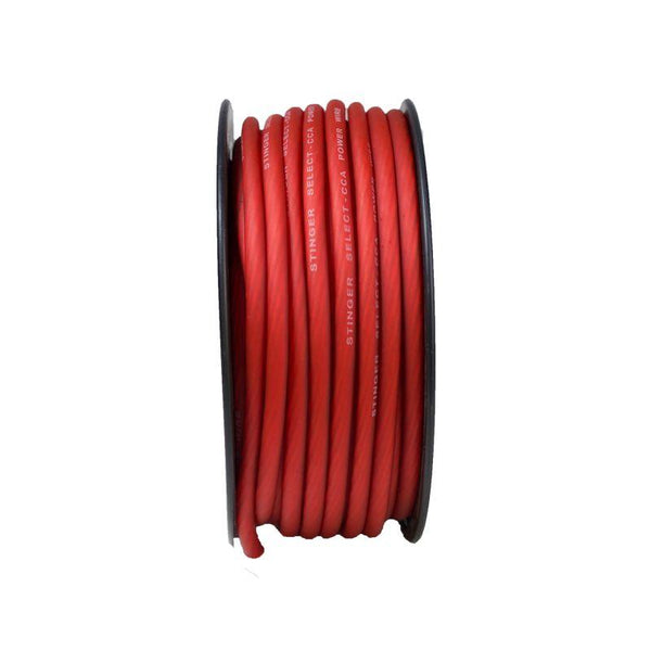 4GA MATTE RED POWER WIRE