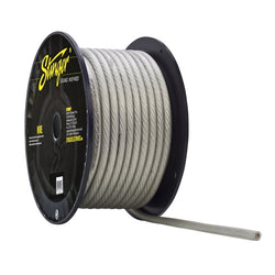 4GA PRO POWER WIRE: CLEAR 100' Roll