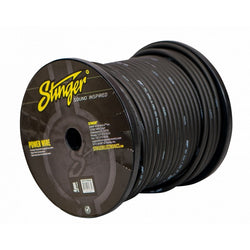 4GA PRO POWER WIRE: MATTE BLACK 250' Roll