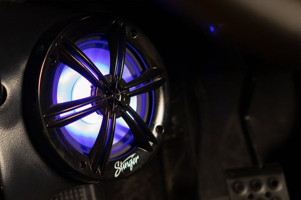 "6.5"" BLACK COAXIAL MARINE SPEAKERS WITH BUILT-IN MULTI-COLOR RGB LIGHTING"