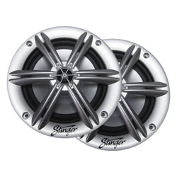 "6.5"" SILVER COAXIAL POWERSPORTS/OFF-ROAD SPEAKERS"