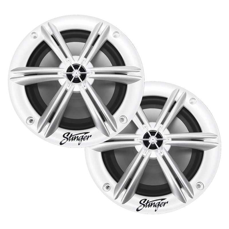 "6.5"" WHITE COAXIAL POWERSPORTS / OFF-ROAD SPEAKERS"